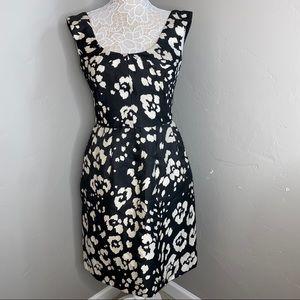 OSCAR DE LA RENTA    black and white floral dress